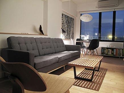 Interieur inrichting van klein appartement in Hong Kong