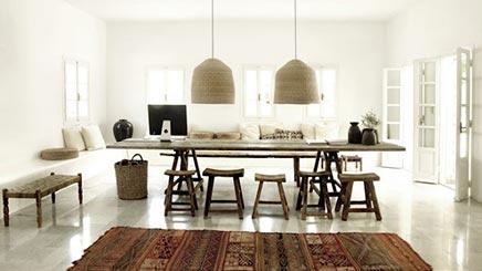 Interieur inrichting van het San Giorgio Designhotel Mykonos