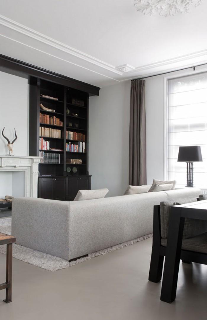 Interieur van een statig appartement inrichting - Van interieur appartement ...