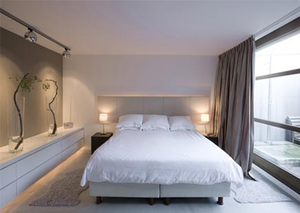 Moderne kleine slaapkamer