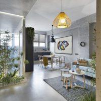 Het interieurontwerp van dit kleine appartement is erg inspirerend!