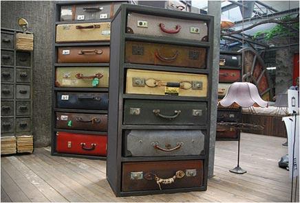 Vintage koffer ladekasten van James Plumb