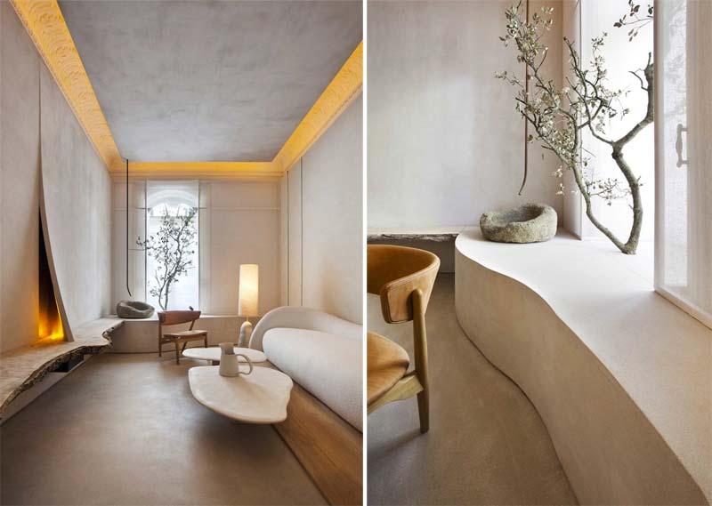 japandi interieur stijl organische vormen