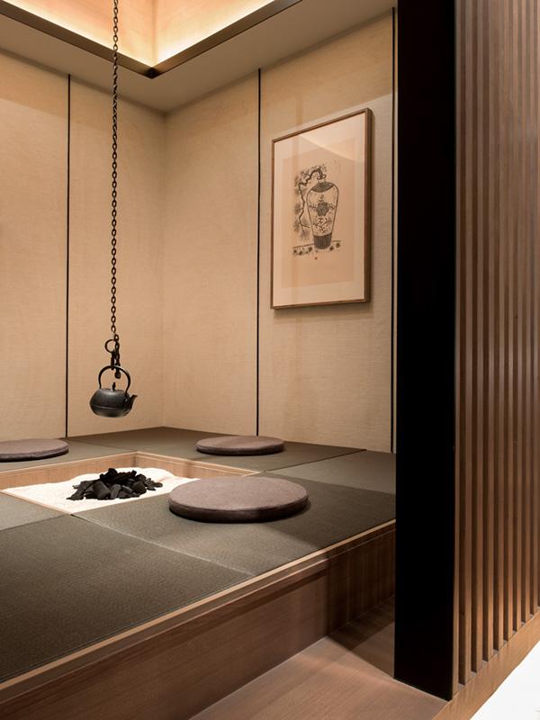 Japanse tatami matten in huis