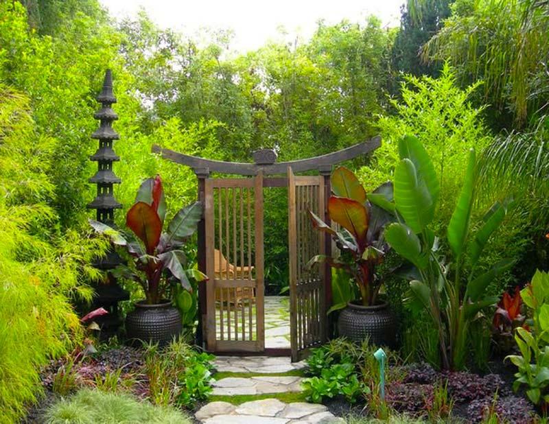 japanse tuin poort