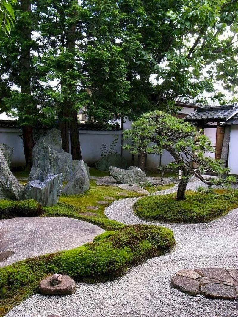 japanse tuin rotsen stenen