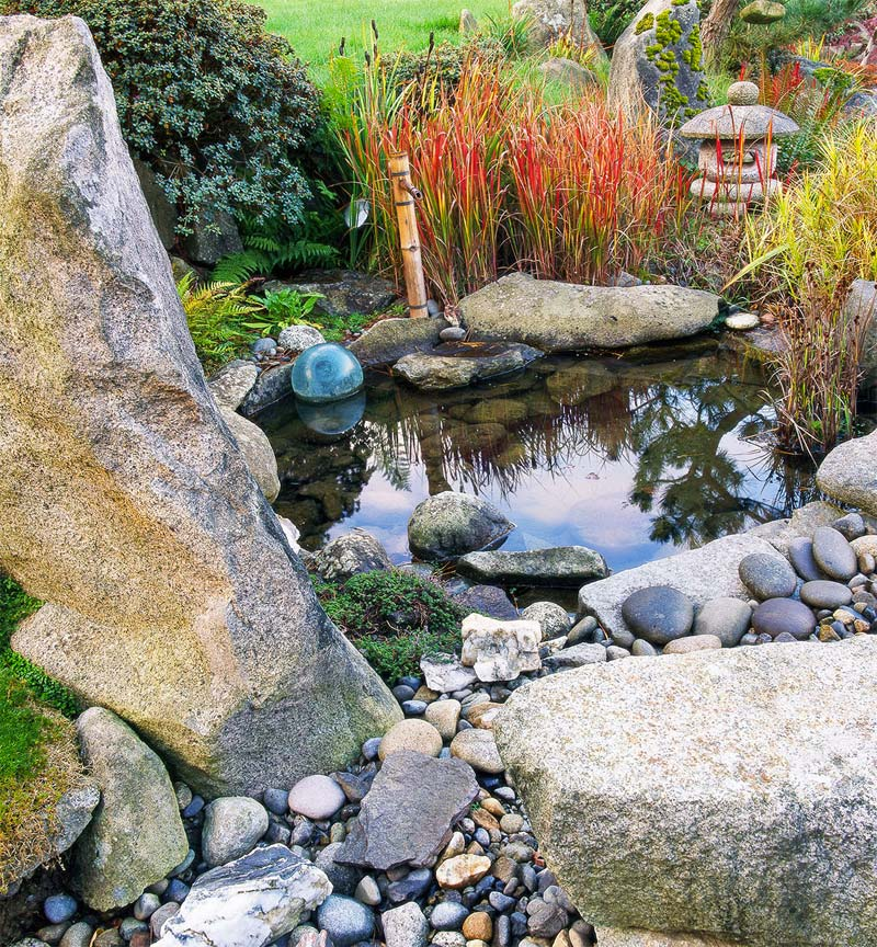 japanse tuin vijver