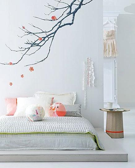Japanse zen slaapkamer inrichting - Kleur zen kamer ...