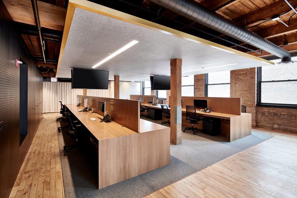 kantoor inrichten tips acoustiek - industrieel kantoor van Ansarada