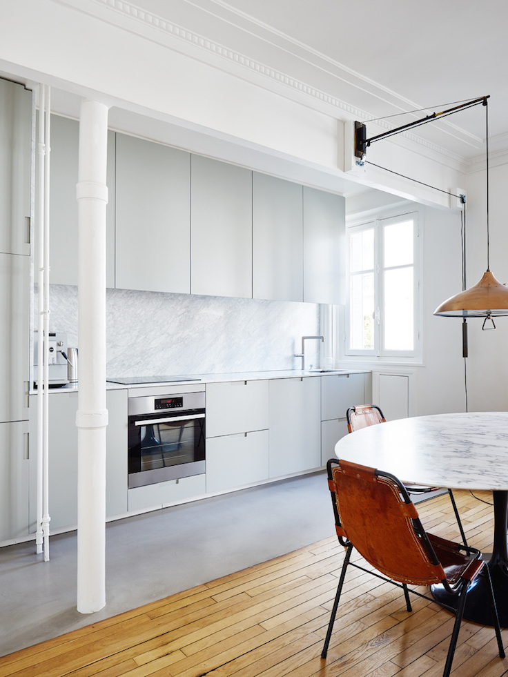 Karakteristiek appartement uit parijs met verschillende for Interieur stijlen