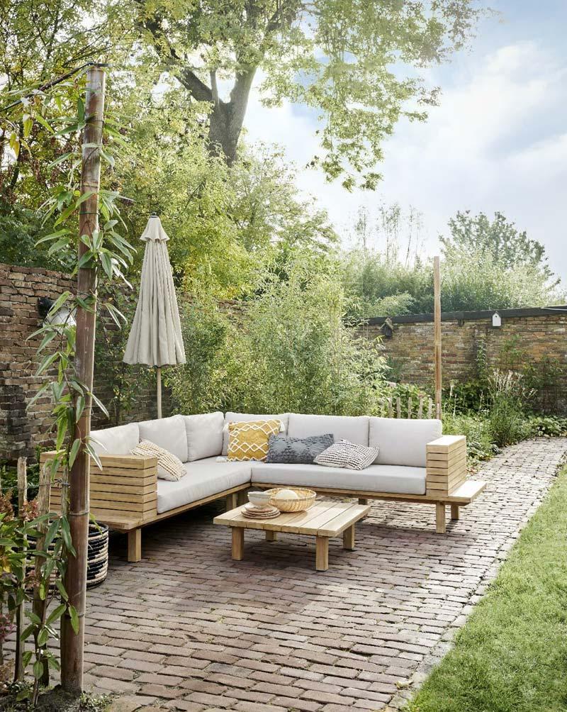 Karwei tuinmeubelen - Loungeset Lissabon naturel