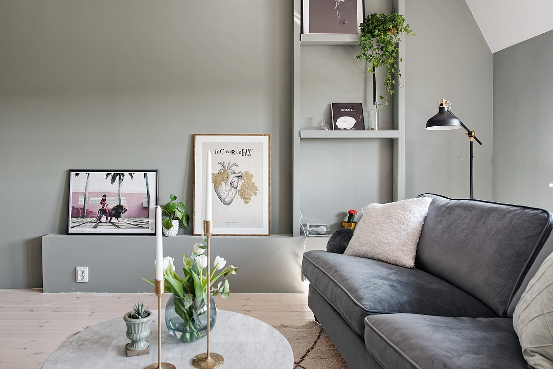 Kleur Muren Woonkamer : In dezelfde kleur schilderen als de muur inrichting huis.com
