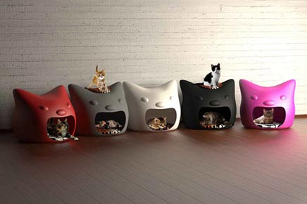 Kattenbak van studio mango inrichting - Contemporary cat furniture ideas ...