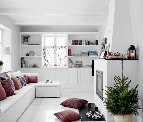 Kerstdecoratie in huis van interieurontwerpster Tine
