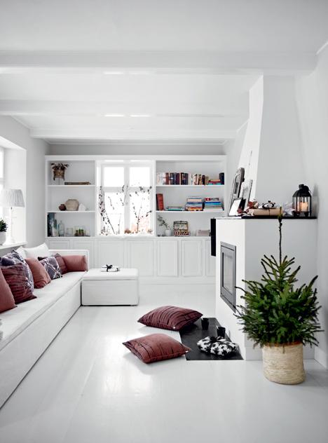 Kerstdecoratie in huis van interieurontwerpster tine inrichting - Voor na gerenoveerd huis ...