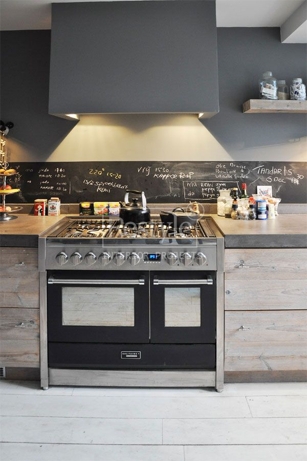 Keuken Achterwand Verf : Modern Rustic Kitchen
