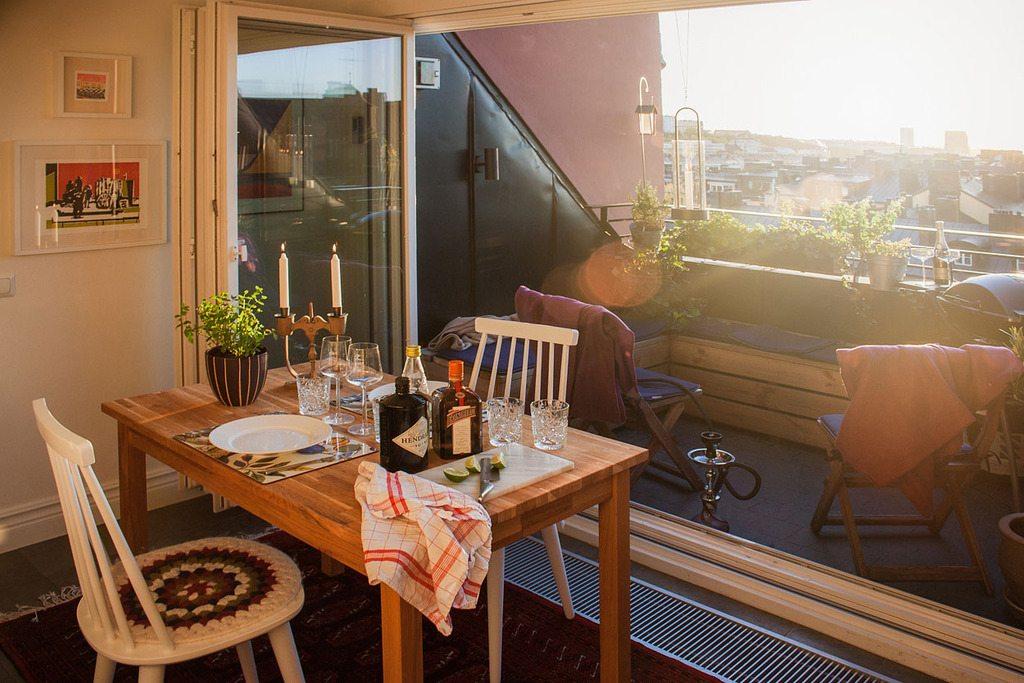 Keuken als verlengde van het balkon