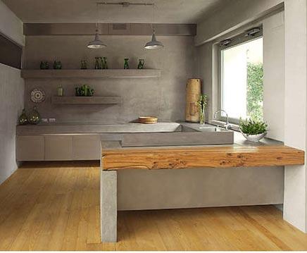 Küche mit beton Arbeitsplatte | Wohnideen einrichten