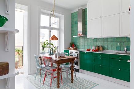 Populair Keuken in het groen | Inrichting-huis.com #WX54