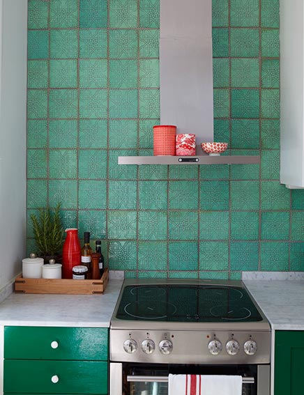 Keuken in het groen