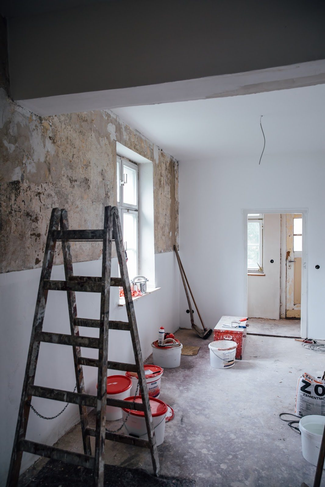 keuken-muur-half-verven