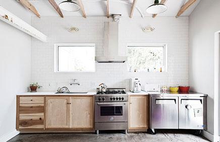 Lichte keuken van reclamebureau FuzzcoLichte keuken van reclamebureau Fuzzco