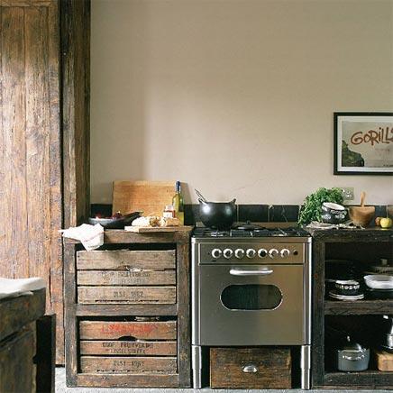 Keuken met rustieke charme