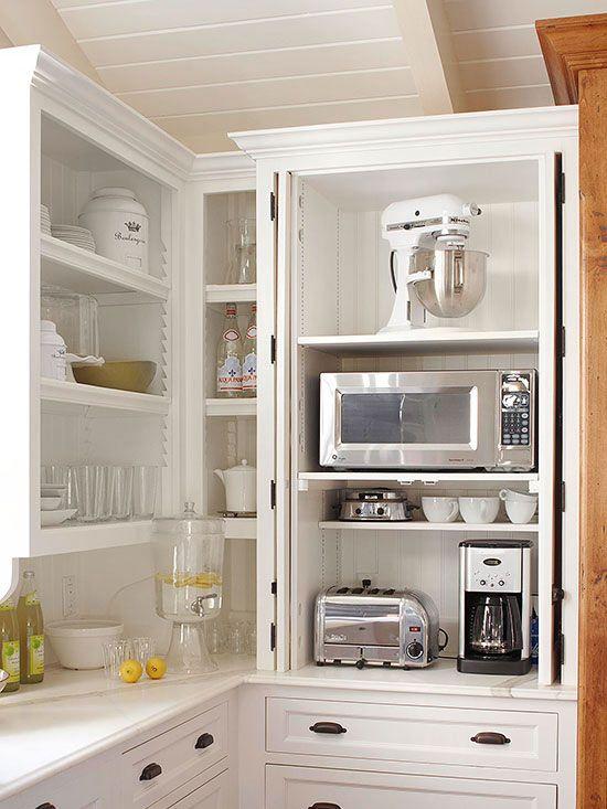 Keuken apparatuur opbergen