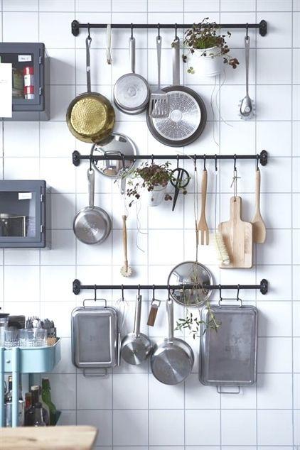 Keukengerei opbergen in kleine keuken