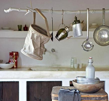 Keukenstang van een tak