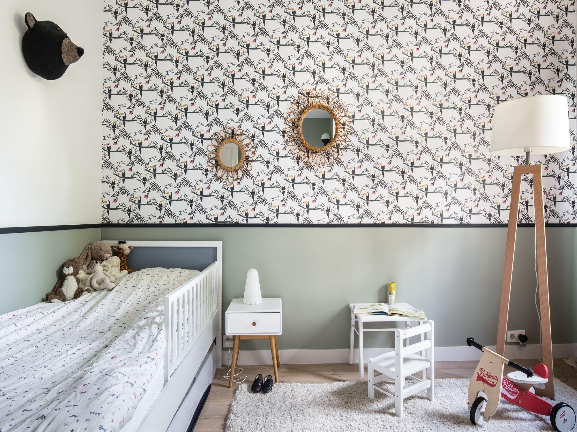 kinderkamer inrichten tips muren behang