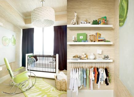 Kinderkamer met mini inloopkast