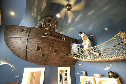 Kinderkamer met piraat thema