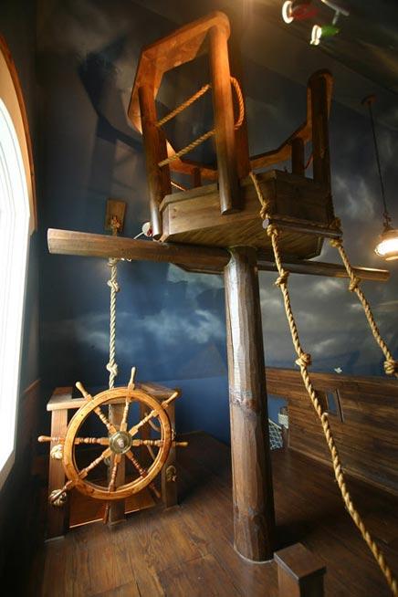 Kinderzimmer mit einem Thema Piraten