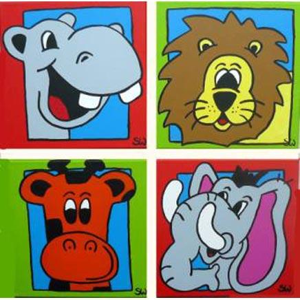 Kinderkamer schilderijen inrichting - Babykamer schilderij idee ...
