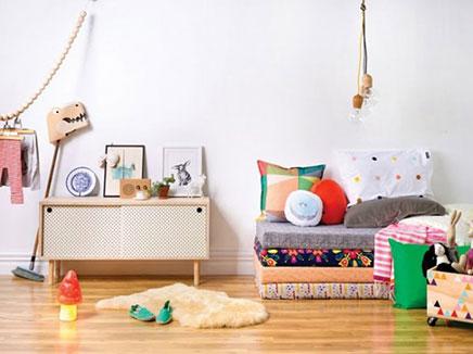 Kinderkamer styling met kleur inrichting for Kleur kinderkamer