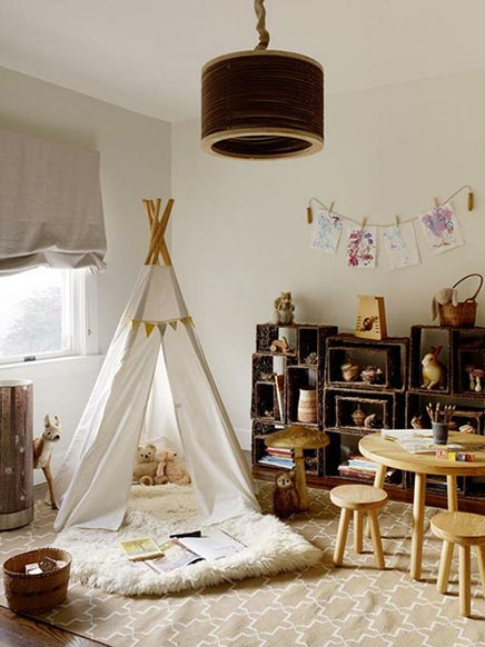 Kinderkamer met tipi tent
