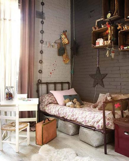 kinderzimmer mit vintage new york schau wohnideen einrichten. Black Bedroom Furniture Sets. Home Design Ideas