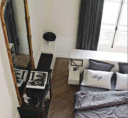 Klassieke slaapkamer van architect Isabelle Stanislas