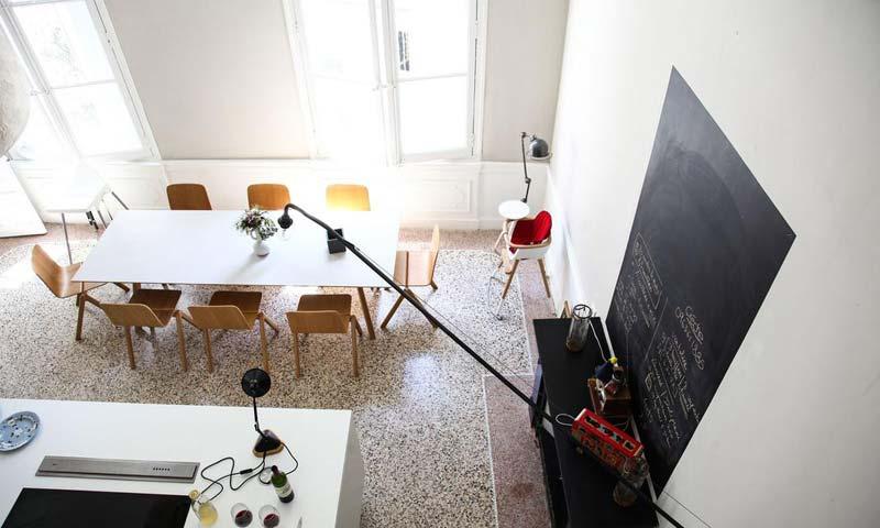 klassieke terrazzo vloer keuken