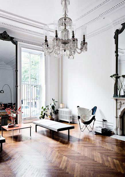 Klassieke woonkamer idee n uit new york inrichting for Living room west 6 brooklyn