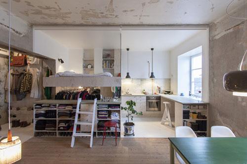 Klein appartement met alle voorzieningen
