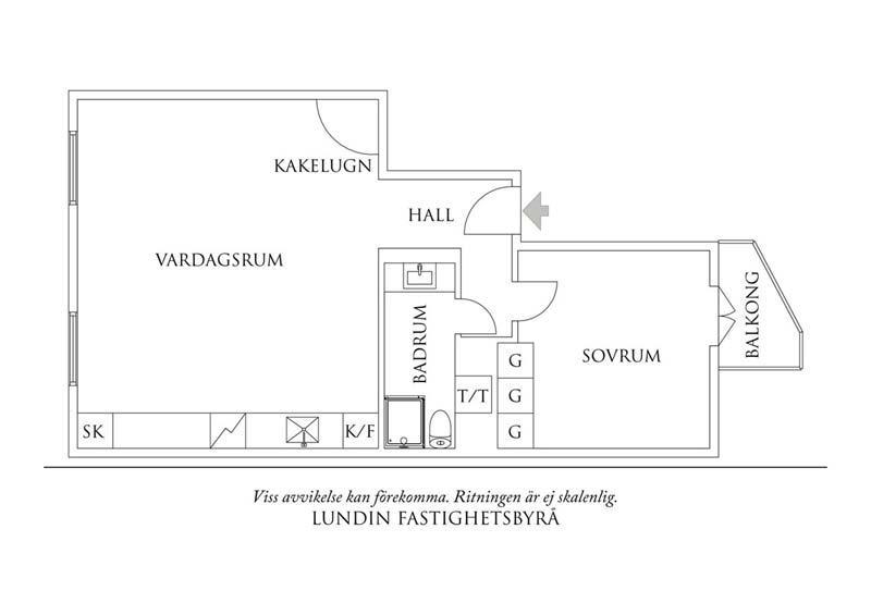 klein appartement indeling