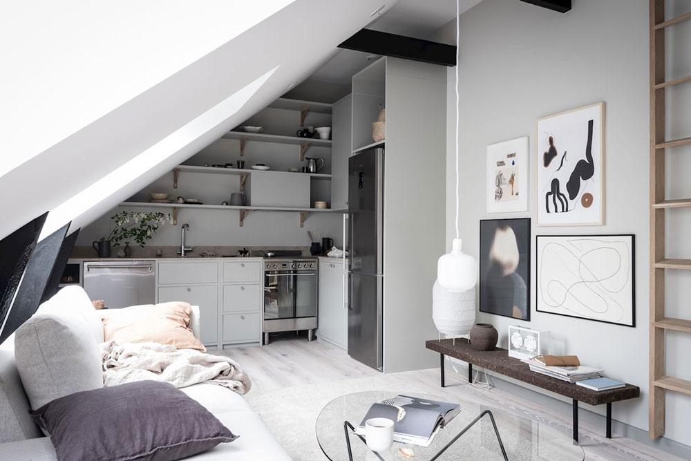 klein appartement inrichten muurkleur