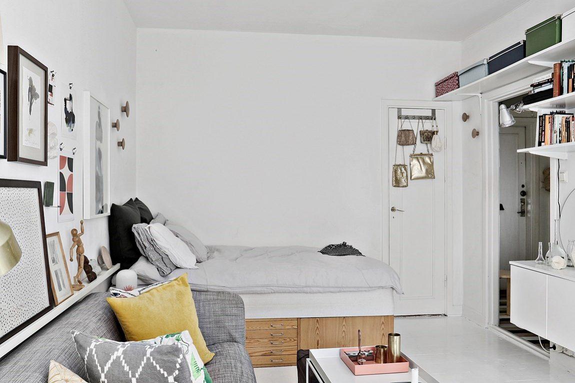 Fijn klein wonen in een appartement van 28m2 inrichting - Decoratie klein appartement ...