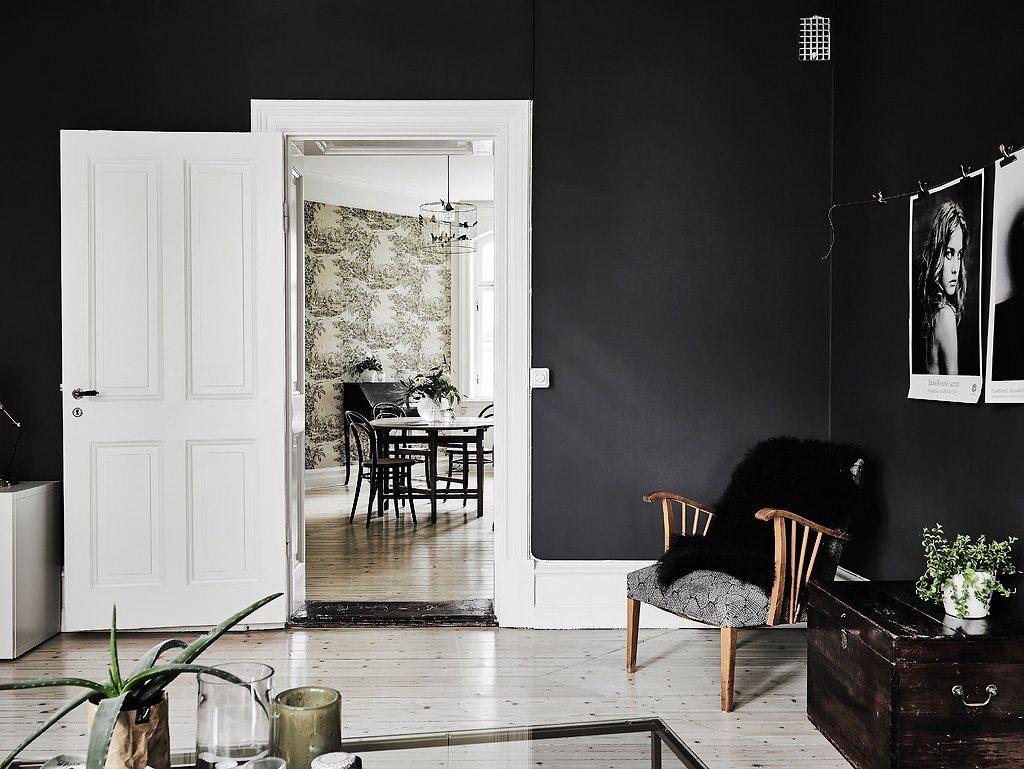 Klein Appartement Met Stoere Zwarte Muren Inrichting Huis Com
