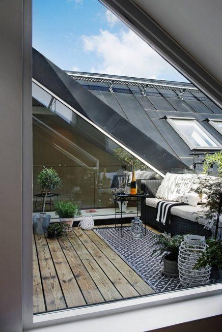 Een klein droombalkon inrichting - Verriere dak ...