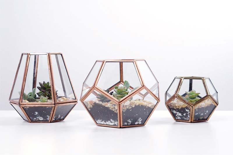 klein geometrisch terrarium maken