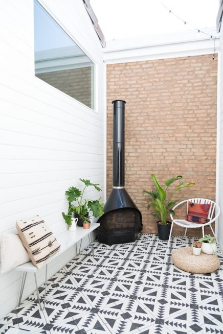 Klein maar fijne patio tuin