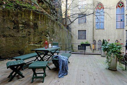 Klein scandinavisch appartement van 50m2 inrichting - Enorme terras ...